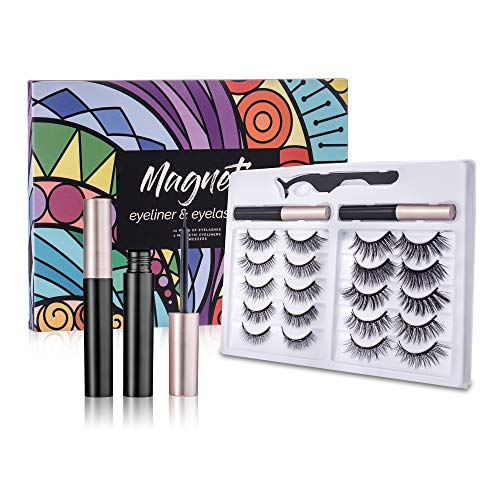 Pairs Magnetic Eyelashes with Eyeliner 5