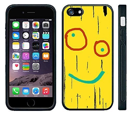 Apple iPhone 6 Black Rubber Silicone Case - Plank Ed Edd Eddy Yellow Plank Board Cartoon