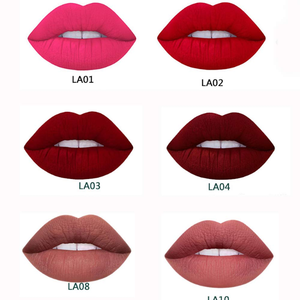 Matte Lipstick Set, Waterproof Long Lasting Liquid Lipsticks Non-Stick Cup Lipstick Set (6 colors)