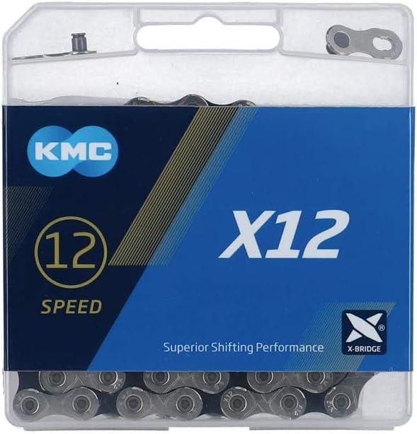 KMC Cadena X12 Plata/Negro 126P 12V