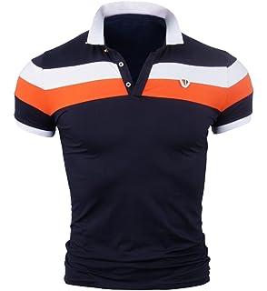 KXP Mens Sport Top Cotton Short Sleeve Polo Tee T-Shirt