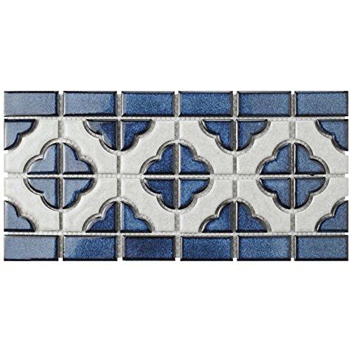 SomerTile FXLPALCB Castle Porcelain Mosaic Floor and Wall Tile, 5.75