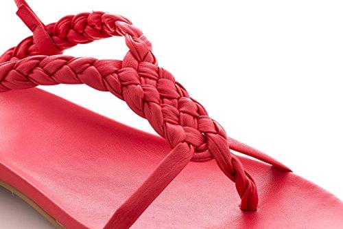 Vibrazione Cuoio Mano Rosso Antonio Raggini Di Cadute Anatomica A Plantare Con Sandali Tessuti XwU4wx