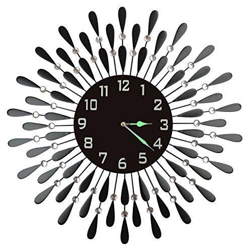 """LuLu Decor, Black Drop Metal Wall Clock 23"""", 9.5"""" Black"""