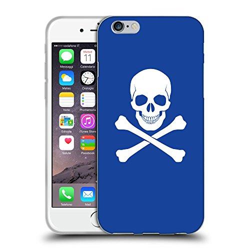 "GoGoMobile Coque de Protection TPU Silicone Case pour // Q09470613 Os croisés 2 Bleu // Apple iPhone 6 4.7"""