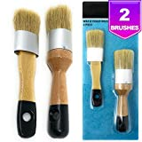 Best Brush For Chalk Paints - Pixiss Chalk and Wax Brushes 2 Piece Brush Review