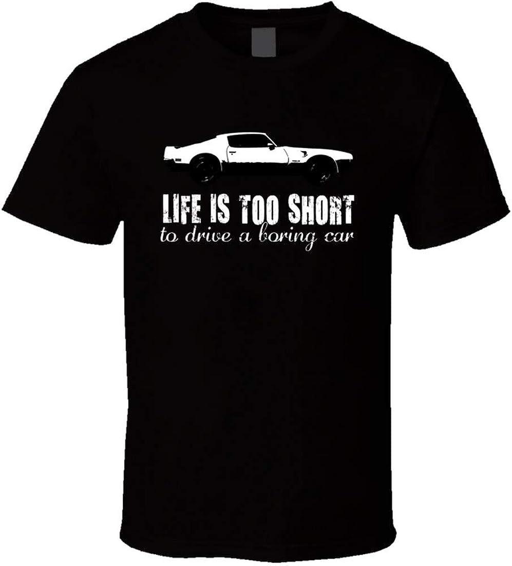 1971 Pontiac Firebird 455 4 7 L V8 Life is Too Short Retro Vintage ventilador de coche camiseta
