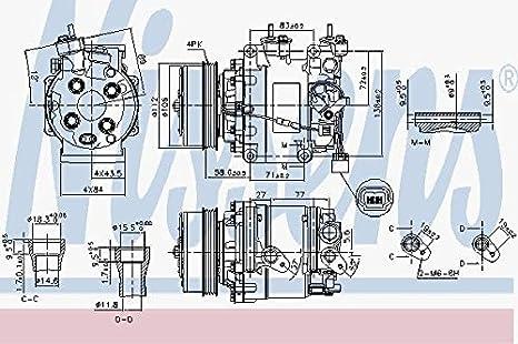 Nissens 890155 Compresor para Aire Acondicionado: Amazon.es: Coche y moto