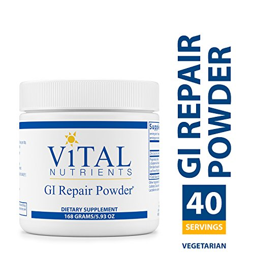 Vital Nutrients - GI Repair Powder - Promotes Healthy Intestinal Function and a Healthy Gastrointestinal Lining - Vegetarian - 168 Grams (Vital Nutrients Glutamine Powder)