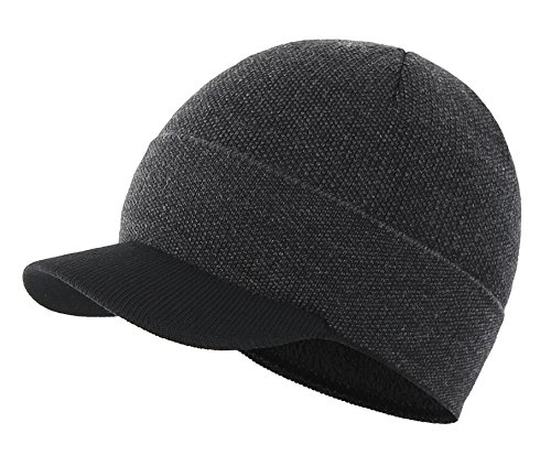Home Prefer Boys Winter Hat Warm Lining Knitted Hat with Visor Beanie Skull Caps – DiZiSports Store