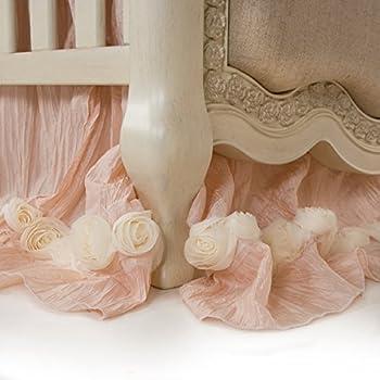 Image of Baby Glenna Jean Crib Skirt Contessa Dust Ruffle for Baby Nursery Crib