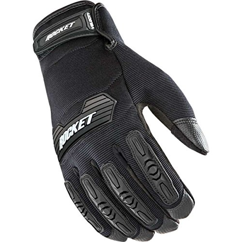 Joe Rocket Velocity 2.0 Men's Textile Street Motorcycle Gloves - Black/Black/Large