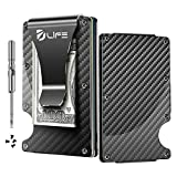 Dlife Carbon Fiber Men Mini Wallet Money Clip Screw Fixation Elastic B