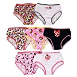 Disney Girls' Big Minnie Dots 7 Pack Panty, Assorted, 8