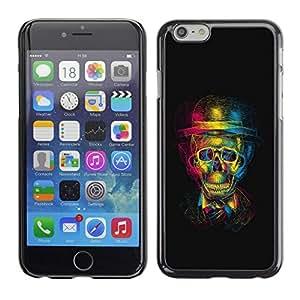 LECELL -- Funda protectora / Cubierta / Piel For Apple iPhone 6 Plus 5.5 -- 3D Gentleman Skull --