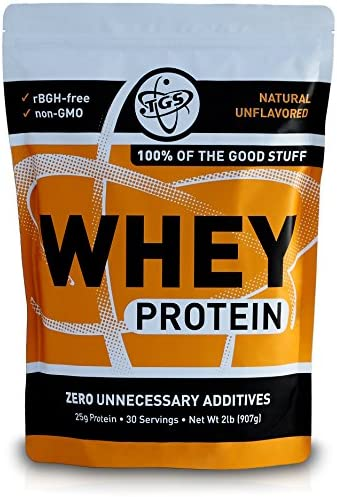 TGS All Natural 100 Whey Protein Powder – Unflavored 2lb