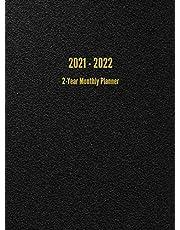 2021 - 2022 2-Year Monthly Planner: 24-Month Calendar (Black)