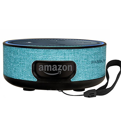 PASBUY 85D-2 Alexa Protective Case Cover Stand Guard Holder, Wall Mount for Amazon Echo Dot 2nd (Aquamarine)