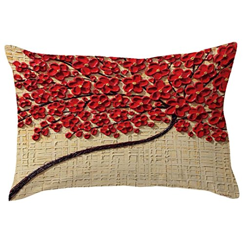 lower Tree Print Sofa Bed Cushion Cover Home Decor Design Throw Pillow Cover Pillow Case (30cm50cm, D) ()
