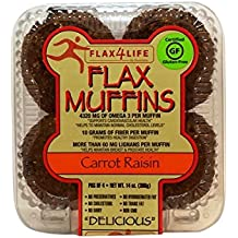 FLAX4LIFE Muffins, Carrot Raisin, 14 Ounce (Pack of 6)
