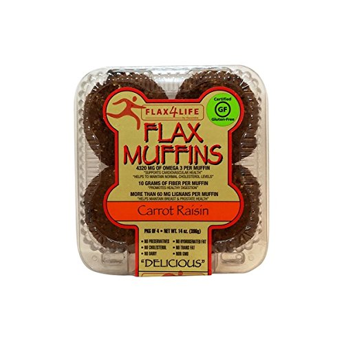 FLAX4LIFE Muffins, Carrot Raisin, 14 Ounce (Pack of 6) by Flax4Life