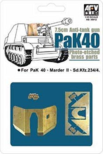 (AFV Club 1:35 7.5cm Anti Tank Gun PaK 40 Photo Etched Set #AG35012*)
