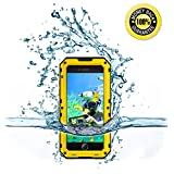 iPhone 5/5S/SE Water Proof Bumper Case, Myckuu [X-sports Series] Super Anti-crash Fullbody Hermetic Screwed Metal Shell for Sports Enthusiast like Diving,Surfing,Skiing,Climbing,Skateboarding