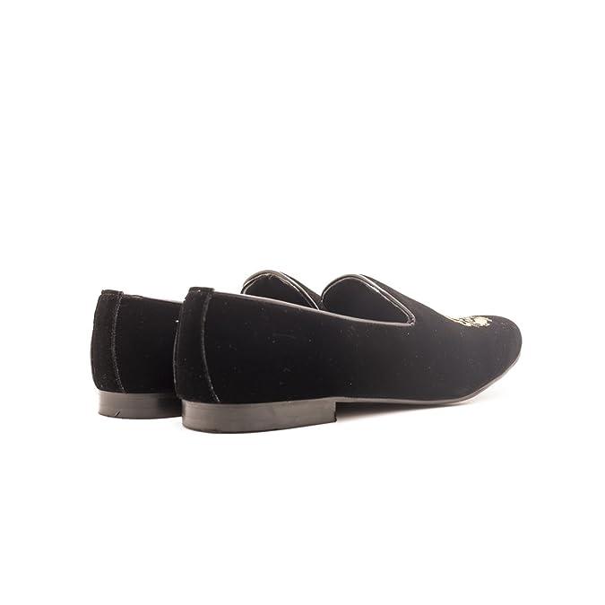 070436a6bd2173 Monkstory Men Dublin Black Velvet Slip-On  Amazon.in  Shoes   Handbags
