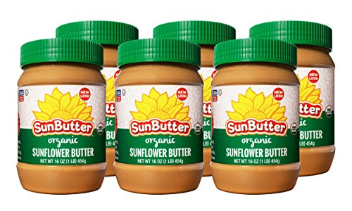 SunButter Organic Sunflower Butter Single Ingredient (Pack of 6)