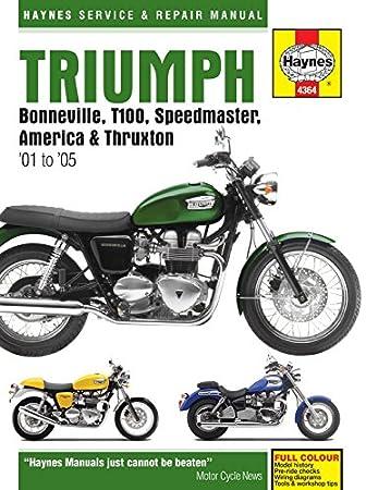 haynes manual triumph bonneville t100 speedmaster america 01 15 rh amazon co uk Honda Service Repair Manual Honda Service Repair Manual