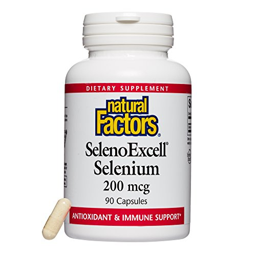 Yeast Selenium (Natural Factors - SelenoExcell Selenium 200mcg, Antioxidant & Immune Support, 90 Capsules)