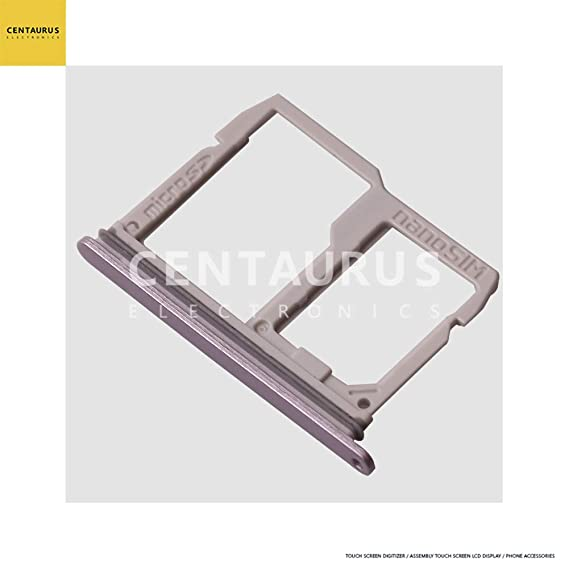 CENTAURUS Nano SIM + Micro SD Memory Card Holder Slot Tray Replacement for  LG Stylo 4 / Q Stylus Q710 Q710MS Q710CS Q710AL Q710TS Q710US Q710ULM