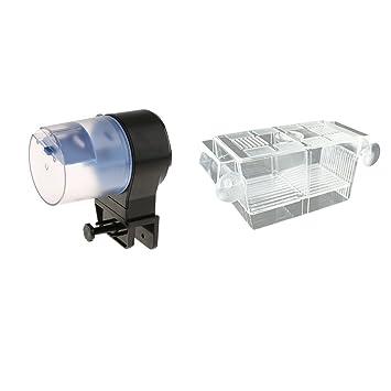 perfk Máquina Alimentadora Pecera Alimentador Automático de Peces Estuche de Criadores de Peces Complimentos: Amazon.es: Deportes y aire libre