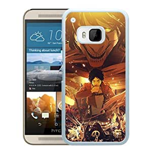 Fashionable and Nice HTC ONE M9 Case Design with Attack on Titan 15 White Cover