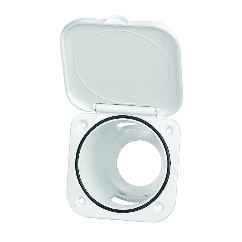 NuovaRade Nuova Rade Case for Shower Head, Square, with Lid, 3.75'' x 3.75'', White