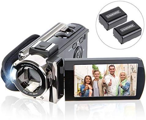 Camcorder Vlogging Recorder Rotation Batteries product image