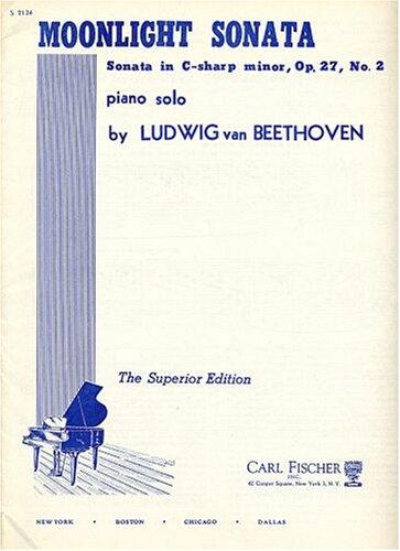 Moonlight Sonata Music Notes (Moonlight Sonata (Sonata Quasi Una Fantasia) Piano Solo, Opus 27, No. 2 (Original Version) Notes in English and German)