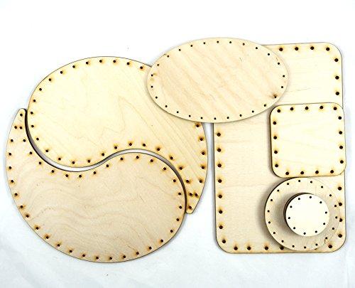 Korbboden Set gemischt, groß - Flechten, Korbflechten, Schilf Set, Peddigrohr, Flechtmaterial, Flechtset, Rattan