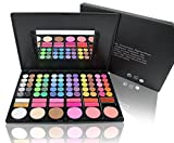 Image of All in 1 Compact Makeup Palette in Slim Case with Built in Mirror and 2 Brushes