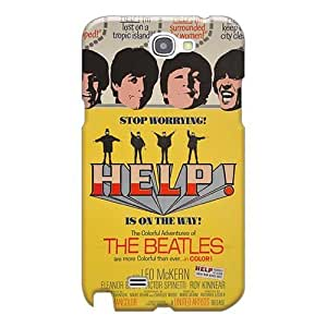 Scratch Resistant Hard Cell-phone Cases For Samsung Galaxy Note 2 With Unique Design Colorful The Beatles Pattern 88caseme