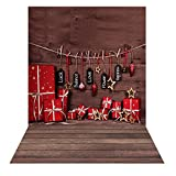 Andoer 1.5 * 2m Photography Background Backdrop Fantasy Bear Christmas Santa Claus Wood Floor Pattern for Children Kids Baby Photo Studio Portrait Shooting