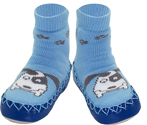 Konfetti See Spot Run Puppy Dog Swedish Moccasins for Babies and ()