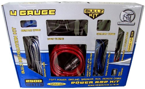 NEW BULLZ AUDIO 4 Gauge Car Amplifier Amp Installa...