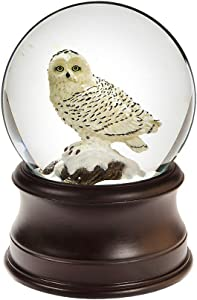 The San Francisco Music Box Company Snowy Owl Snow Globe