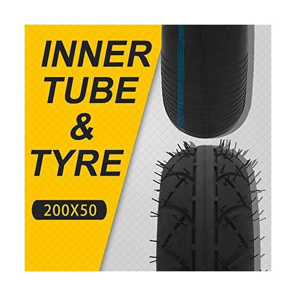 AnXin Ensemble de pneus 200 x 50 cm + chambre à air pour Razor E150 E200 Dune Buggy Crazy Cart Scooter électrique