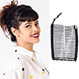 Banana Clip by HairZing - Double Comb for Thick, Curly, Kinky Hair - Put Your Hair Up in Seconds with No Damage, Creases, or Pain - Comfy UpDo, Ponytail, French Twist, Bun (Banana, Black Medium)