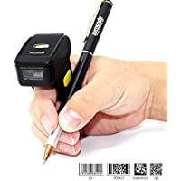2d Bluetooth Barcode Scanner,Symcode Mini Wireless Finger Barcode Reader