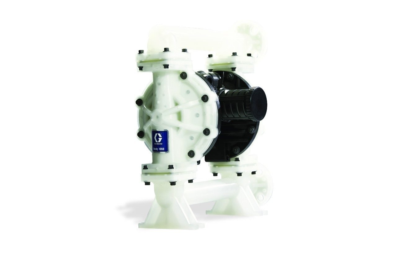 Graco Husky 649034 Polypropylene Double Diaphragm Pump, 1'', 50 GPM
