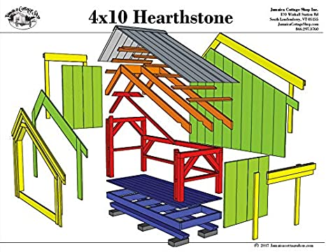 Timber Frame Post And Beam Shed Plans 4x10 Hearthstone