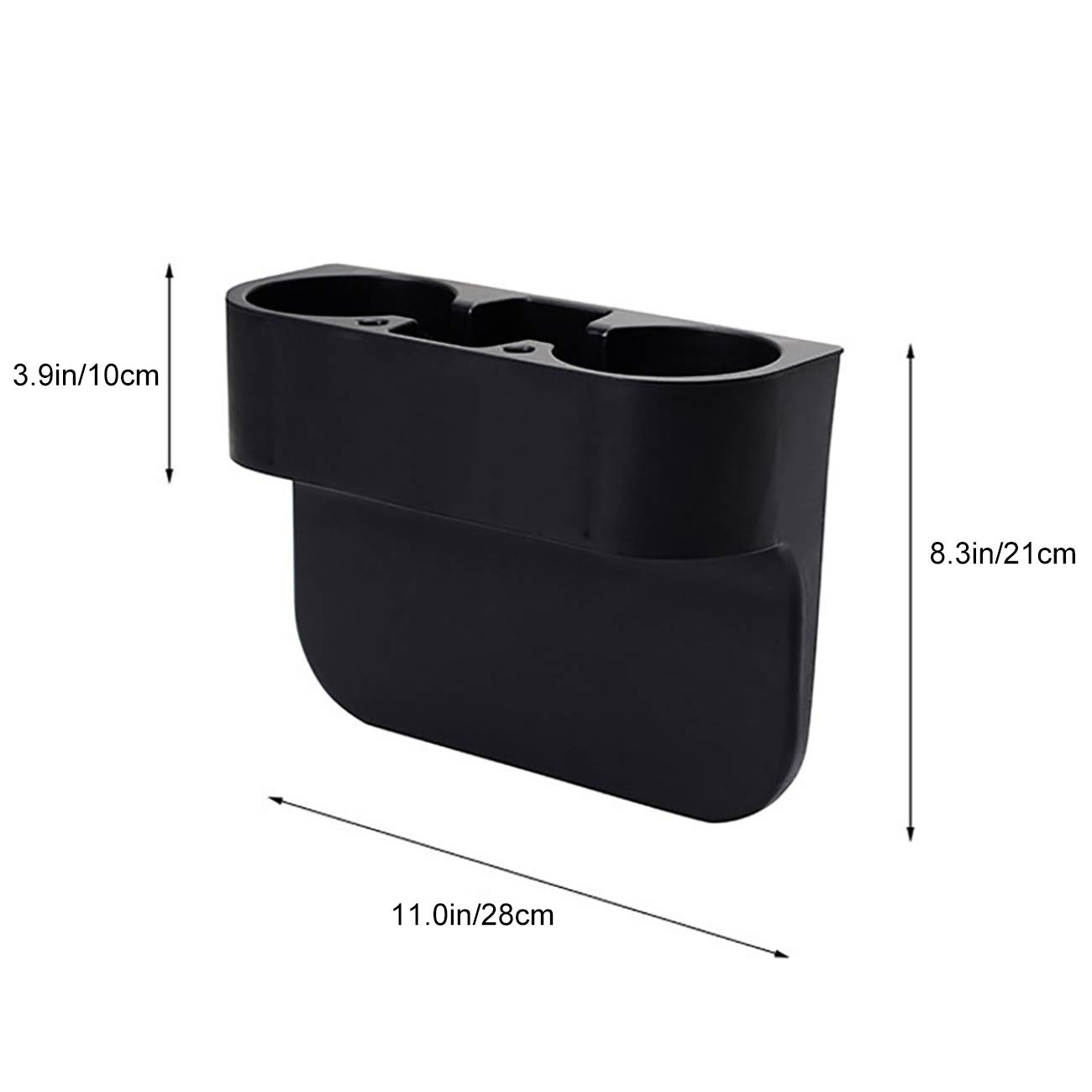 Uheng Premium Car Side Seat Organizer Front Car Console Gap Filler Pockets Drop Caddy Catcher with Cup Holder for Drinks Cellphone Wallet Coin Key with Non-Slip Mat